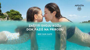 APIVITA BEE SUN SAFE mama i djevojčica u moru